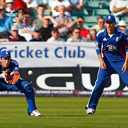 08/09/2012 Durham, England. Craig Kieswetter catcches the ball during the 1st Nat West t20 cricket match between  England and South Africa and played at Emirate Riverside Cricket Ground: Mandatory credit: Mitchell Gunn