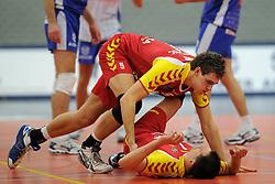 12-02-2011 VOLLEYBAL: AB GRONINGEN/LYCURGUS - DRAISMA DYNAMO: GRONINGEN<br /> In een bomvol Alfa-college Sportcentrum werd Dynamo met 3-2 (25-27, 23-25, 25-19, 25-23 en 16-14) verslagen door Lycurgus / Jarik Niebeek en Kars van Tarel<br /> ©2011-WWW.FOTOHOOGENDOORN.NL
