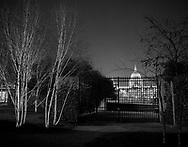 St Paul's seen through a garden<br /> <br /> February 2016