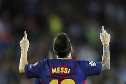 Lionel Messi of FC Barcelona during the UEFA Champions League group D match between FC Barcelona and Juventus FC  on September 12, 2017  at the Camp Nou stadium in Barcelona, Spain.