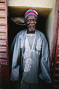 The chief of Kouakourou, Mali. Africa. From coverage of revisit to Material World Project family in Mali, 2001.