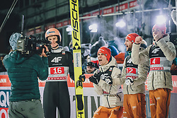 06.01.2020, Paul Außerleitner Schanze, Bischofshofen, AUT, FIS Weltcup Skisprung, Vierschanzentournee, Bischofshofen, Finale, im Bild v.l.: Karl Geiger (GER), Stephan Leyhe (GER), Markus Eisenbichler (GER), Constantin Schmid (GER) // f.l.: Karl Geiger of Germany Stephan Leyhe of Germany Markus Eisenbichler of Germany Constantin Schmid of Germany during the final for the Four Hills Tournament of FIS Ski Jumping World Cup at the Paul Außerleitner Schanze in Bischofshofen, Austria on 2020/01/06. EXPA Pictures © 2020, PhotoCredit: EXPA/ Dominik Angerer