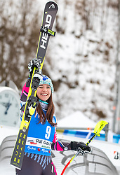 19.12.2018, Saslong, St. Christina, ITA, FIS Weltcup Ski Alpin, SuperG, Damen, Flower Zeremonie, im Bild Tina Weirather (LIE, 2. Platz) // second placed Tina Weirather of Liechtenstein during the Flowers ceremony for the ladie's Super-G of FIS Ski Alpine World Cup at the Saslong in St. Christina, Italy on 2018/12/19. EXPA Pictures © 2018, PhotoCredit: EXPA/ Johann Groder