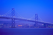 Image of the Oakland Bay Bridge, San Francisco Bay, California, American west coast