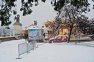 Trocadero, Paris, France. Très fortes chutes de neige, le 8 décembre 2010.