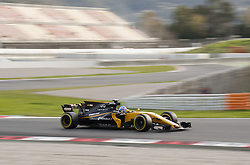 February 28, 2017 - Montmelo, Spain - Jolyon Palmer, driver of the Renault Sport F1 Team, in action during the 2nd day of the Formula 1 Test at the Circuit of Catalunya. (Credit Image: © Pablo Freuku/Pacific Press via ZUMA Wire)