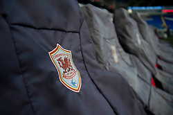 A close up of a Cardiff City badge on seat covers - Photo mandatory by-line: Dougie Allward/JMP - Mobile: 07966 386802 19/08/2014 - SPORT - FOOTBALL - Cardiff - Cardiff City Stadium - Cardiff City v Wigan Athletic - Sky Bet Championship