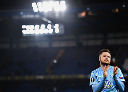 February 21, 2019 - London, Great Britain - 190221 Lasse Nielsen of MalmÅ¡ FF looks dejected after the Europa league match between Chelsea and MalmÅ¡ FF on February 21, 2019 in London..Photo: Petter Arvidson / BILDBYRN / kod PA / 92228 (Credit Image: © Petter Arvidson/Bildbyran via ZUMA Press)