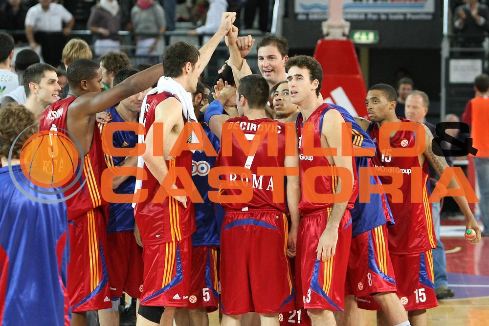 DESCRIZIONE : Roma Eurolega 2008-09 Lottomatica Virtus Roma DKV Joventut Badalona<br /> GIOCATORE : esultanza<br /> SQUADRA : Lottomatica Virtus Roma<br /> EVENTO : Eurolega 2008-2009<br /> GARA : Lottomatica Virtus Roma DKV Joventut Badalona<br /> DATA : 30/10/2008 <br /> CATEGORIA : <br /> SPORT : Pallacanestro <br /> AUTORE : Agenzia Ciamillo-Castoria/C. De Massis<br /> Galleria : Eurolega 2008-2009 <br /> Fotonotizia : Roma Eurolega Euroleague 2008-09 Lottomatica Virtus Roma DKV Joventut Badalona<br /> Predefinita :