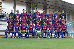 24.08.2011, Barcelona, ESP, FC Barcelona Fotocall, im Bild Mannschaftsfoto des FC Barcelona Victor Valdes, Marc Muniesa, Andreu Fontas, Eric Abidal, Gerard Pique, Sergio Busquets, Ibrahim Afellay, Seydou Keita, Jose Manuel Pinto, Martin Montoya, David Villa, Cesc Fabregas, Juan Carlos Unzue, Pep Guardiola, Tito Vilanova, Adriano Correia, Maxwell, Javier Mascherano, Thiago Alcantara, Pedro Rodriguez, Daniel Alves, Andres Iniesta, Cales Puyol, Xavi Hernandez,Leo Messi, Alexis Sanchez, Jonathan Dos santos. FC Barcelona players for season 2011/2012. Team Photo, EXPA Pictures © 2011, PhotoCredit: EXPA/ Alterphotos/ ALFAQUI/ Gregorio