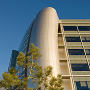 The new wing of Sharp Hospital, San Diego was designed by NBBJ and completed in January of 2009. The addition contains NBBJ's trademark modern references: it's sleek and futuristic. San Diego Architectural Photographer, Southern California Architectural Photographer