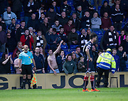 8th May 2018, Global Energy Stadium, Dingwall, Scotland; Scottish Premiership football, Ross County versus Dundee; Dundee fans