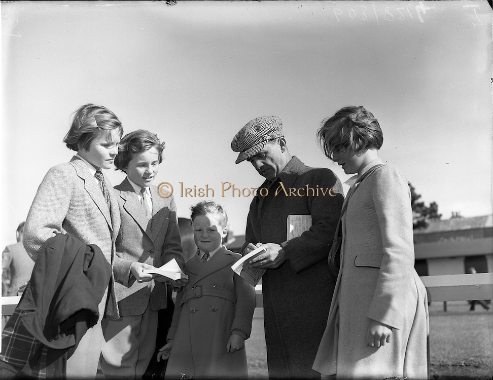 20/09/1954<br /> 09/20/1954<br /> 20 September 1954<br /> Goffs September (Annual Yearling) Bloodstock sales at the RDS, Ballsbridge Dublin. Pictured at the sales is legendary jockey  and horse trainer Sir Gordon Richards.