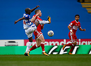 Reading's Sone Aluko and Middlesbrough's Adam Forshaw during the EFL Sky Bet Championship match between Reading and Middlesbrough at the Madejski Stadium, Reading, England on 28 October 2017. Photo by John Marsh.