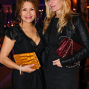 NLD/Amsterdam/20121013- LAF Fair 2012 VIP Night, Claudia Schoemacher - van Zweden en vriendin Priscilla Jourdon