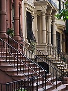 Town houses on West 83rd street in New York City