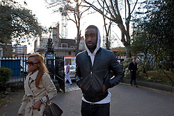 © Licensed to London News Pictures. 19/03/2012. London, U.K. Arsenal footballer Johan Djourou player entering the London chest Hospital on 19/3/2012 to visit Fabrice Muamba this afternoon who is still in hospital after suffering A cardiac arrest in the FA Cup match Saturday 17/3/2012 at White Heart Lane against Tottenham Hotspur..Photo credit : Rich Bowen/LNP