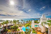 ESTEPONA - 05-01-2016, AZ in Spanje 5 januari, overzicht hotel Estepona Palace.