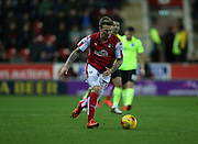 Rotherham United midfielder Danny Ward (9) breaks forward during the Sky Bet Championship match between Rotherham United and Brighton and Hove Albion at the New York Stadium, Rotherham, England on 12 January 2016.