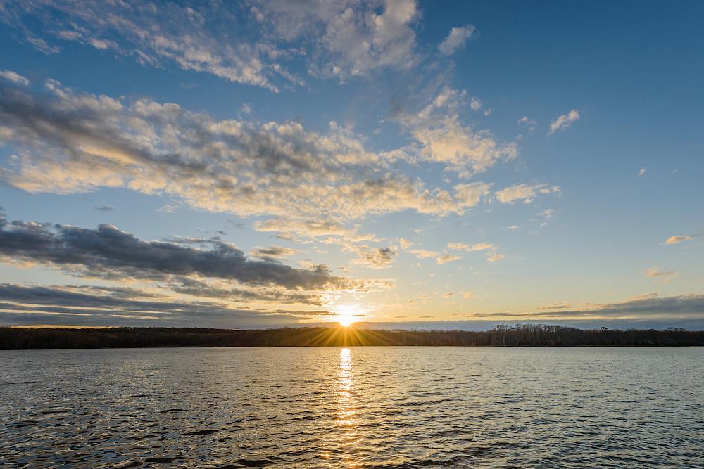 Long Pond, Sunset,  Sag Harbor, Long Island, New York