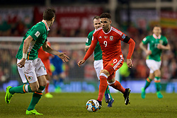 DUBLIN, REPUBLIC OF IRELAND - Friday, March 24, 2017: Wales' Hal Robson-Kanu in action against Republic of Ireland during the 2018 FIFA World Cup Qualifying Group D match at the Aviva Stadium. (Pic by David Rawcliffe/Propaganda)