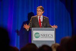 April 24, 2017 - Washington, DC, United States of America - U.S. Secretary of Energy Rick Perry addresses the NRECA Legislative Conference meeting April 24, 2017 in Washington, DC. (Credit Image: © Simon Edelman/Planet Pix via ZUMA Wire)