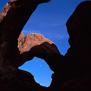 Famed Double Arch in Arches National Park, Utah.