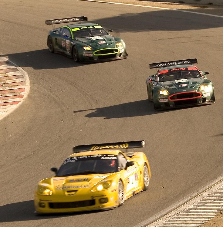 Corvette and Aston Martin db9's at Laguna Seca