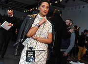 Kimberly Chandler, wife of New York Knicks center Tyson Chandler, poses for a photograph before the Altuzarra Fall 2014 collection is presented during Fashion Week in New York, Saturday, Feb. 8, 2014. (AP Photo/Diane Bondareff)
