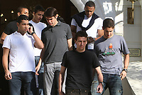 20090622: Johannesburg, SOUTH AFRICA - Brazil National Team enjoy day off from the FIFA Confederations Cup 2009. In picture: Kaka, Robinho, Elano, Julio Baptista, Andre Santos, Alexandre Pato, Nilmar and Luis Fabiano leaving Sunny Park hotel. PHOTO: CITYFILES