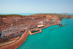 Aerial view of Cockatoo Island on the Kimberley coast.