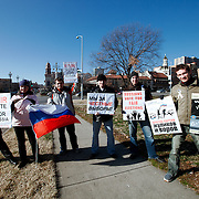 Protest in Kansas City MO against Russian election fraud in December 2011.