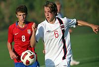 Fotball<br /> Landskamp G15<br /> Stara Pazova - Serbia<br /> Serbia v Norge<br /> 03.10.2012<br /> Foto: Aleksandar Djorovic<br /> NORWAY ONLY<br /> <br /> Mathias Gjerstrøm - Nordstrand IF  <br /> Nemanja Ivanovic (L) - Serbia