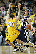 24 JANUARY 2007: Penn State guard Danny Morrissey (33) and Iowa center Seth Gorney (53) collide in Iowa's 79-63 win over Penn State at Carver-Hawkeye Arena in Iowa City, Iowa on January 24, 2007.