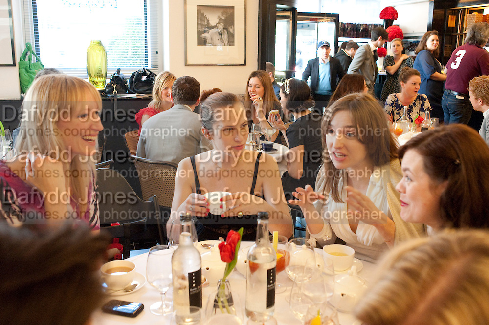 JADE PARFITT; CHARLOTTE DELLAL; VALENTINE FILLOL CORDIER, The launch of the Belvedere Bloody Mary Brunch to London's Caprice. Le Caprice. Arlington st. London. 7 April 2011.  -DO NOT ARCHIVE-© Copyright Photograph by Dafydd Jones. 248 Clapham Rd. London SW9 0PZ. Tel 0207 820 0771. www.dafjones.com.