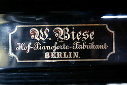 UK ENGLAND LONDON 13MAR12 - Detail of the German-made piano by W. Brese of Berlin once played by Charlie Chaplin's father at The Zeitgest gastro-pub. Located at The Jolly Gardener pub in Lambeth near the river Thames, the Zeitgeist offers a good selection of German food and beverages.....jre/Photo by Jiri Rezac....© Jiri Rezac 2012
