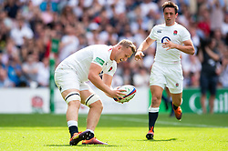 Alex Dombrandt of the England XV scores a try - Mandatory byline: Patrick Khachfe/JMP - 07966 386802 - 02/06/2019 - RUGBY UNION - Twickenham Stadium - London, England - England XV v Barbarians - Quilter Cup International