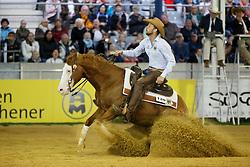 Ludwig Grischa, (GER), Shine My Gun<br /> Reining individual<br /> European Championships - Aachen 2015<br /> © Hippo Foto - Dirk Caremans<br /> 16/08/15