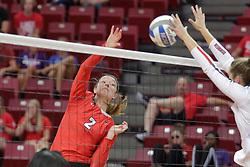 19 August 2017:  Jaelyn Keene during a college women's volleyball match Scrimmage of the Illinois State Redbirds at Redbird Arena in Normal IL (Photo by Alan Look)