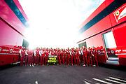 Circuito de Jerez, Spain : Formula One Pre-season Testing 2014. Scuderia Ferrari message for Michael Schumacher.