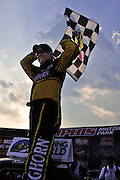Ron Hornaday wins the 2009 NASCAR Truck race at Memphis Motorsports Park.