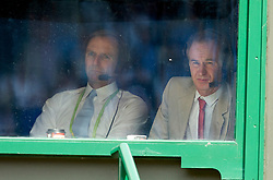LONDON, ENGLAND - Wednesday, June 30, 2010: John McEnroe working as a BBC commentator during the Gentlemen's Singles Quarter-Final on day nine of the Wimbledon Lawn Tennis Championships at the All England Lawn Tennis and Croquet Club. (Pic by David Rawcliffe/Propaganda)