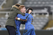 Alfie Egan of AFC Wimbledon during the FA Youth Cup match between Newcastle United and AFC Wimbledon at St. James's Park, Newcastle, England on 6 January 2016. Photo by Stuart Butcher.