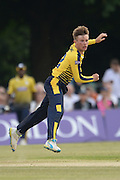Hampshire leg spinner Mason Crane during the NatWest T20 Blast South Group match between Middlesex County Cricket Club and Hampshire County Cricket Club at Uxbridge Cricket Ground, Uxbridge, United Kingdom on 27 May 2016. Photo by David Vokes.