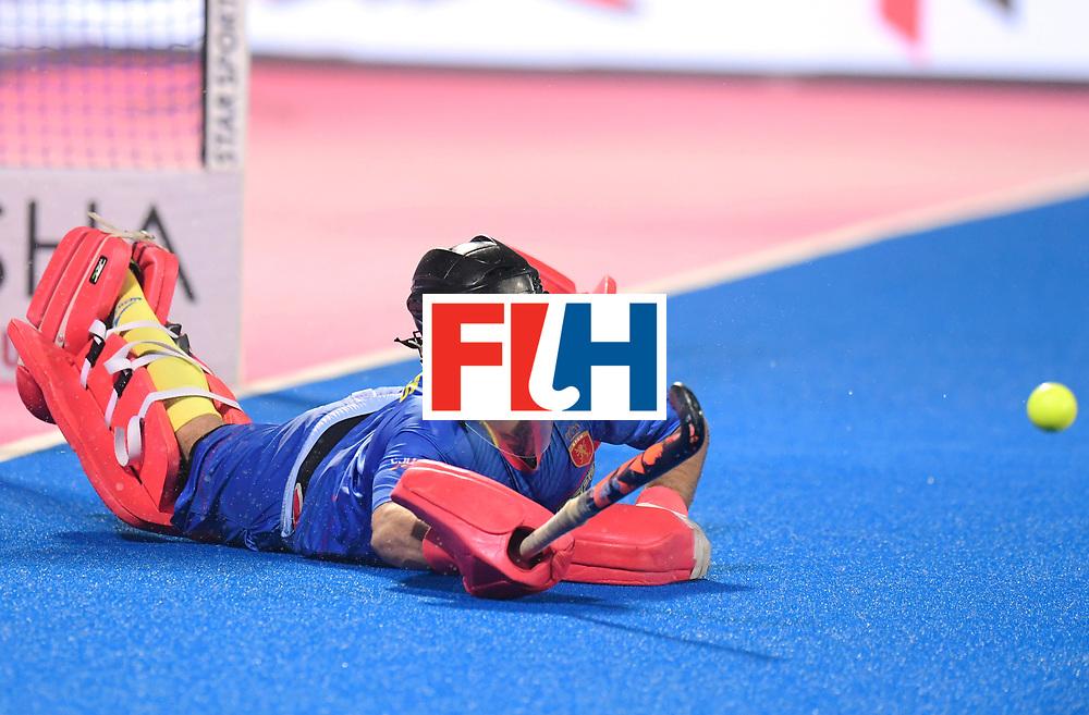 Odisha Men's Hockey World League Final Bhubaneswar 2017<br /> Match id:07<br /> Belgium v Spain<br /> Foto: keeper Quico Cortes (Esp) <br /> WORLDSPORTPICS COPYRIGHT FRANK UIJLENBROEK