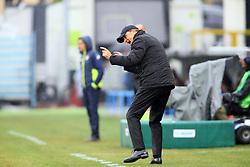 """Foto Filippo Rubin<br /> 01/10/2017 Ferrara (Italia)<br /> Sport Calcio<br /> Spal vs Crotone - Campionato di calcio Serie A 2017/2018 - Stadio """"Paolo Mazza""""<br /> Nella foto: LEONARDO SEMPLICI<br /> <br /> Photo Filippo Rubin<br /> October 01, 2017 Ferrara (Italy)<br /> Sport Soccer<br /> Spal vs Crotone - Italian Football Championship League a  2017/2018 - """"Paolo Mazza"""" Stadium <br /> In the pic: LEONARDO SEMPLICI"""