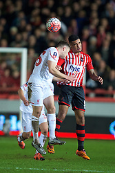 EXETER, ENGLAND - Friday, January 8, 2016: Exeter City's Jamie Reid in action against Liverpool during the FA Cup 3rd Round match at St. James Park. (Pic by David Rawcliffe/Propaganda)