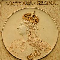 Decorative detail depicting Queen Victoria, Albert Street Bridge, Regina Saskatchewan