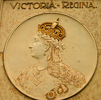 Decorative detail depicting Queen Victoria, Albert Street Bridge, Regina Saskatchewan