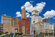 Close-up view of downtown Cincinnati